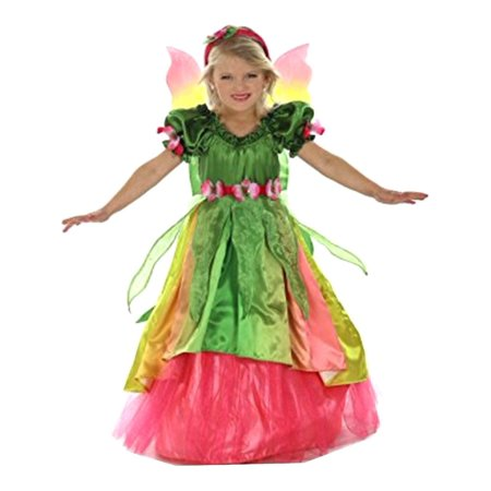 Girls Green Eden The Garden Princess Headband Dress Halloween Costume - Garden Of Eden Costume