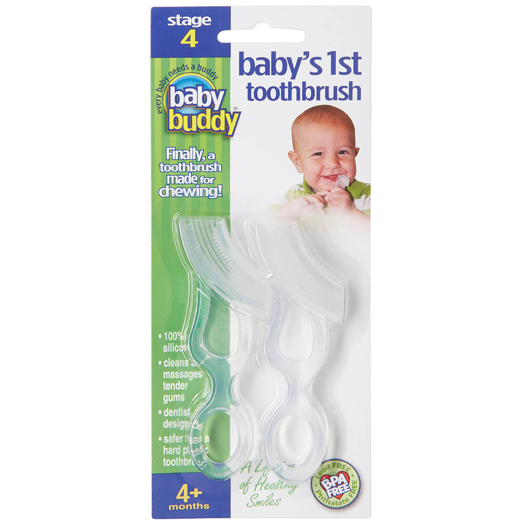 Baby Buddy Baby's 1st Toothbrush, Clear - 2pk