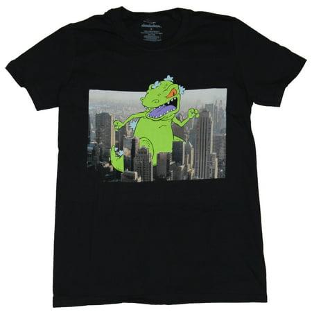 City Shirts (Rugrats (Nicktoons) Mens T-Shirt - Repatr Smashing Through Realistic City)