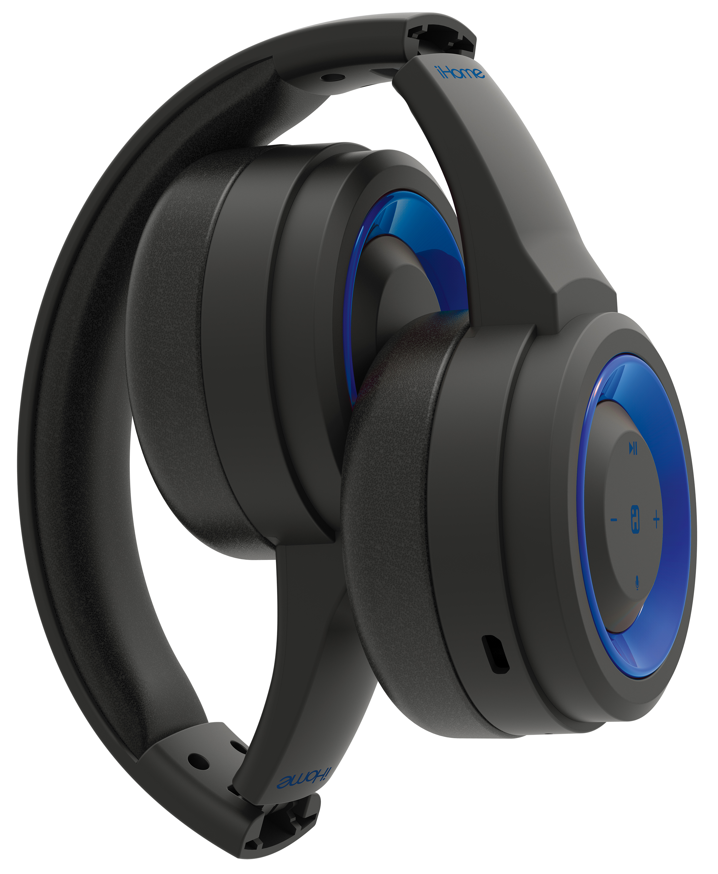 11840d466d2 iHome iB95 Sweat-proof Fold-able Bluetooth Wireless Headphones with Mic -  Walmart.com