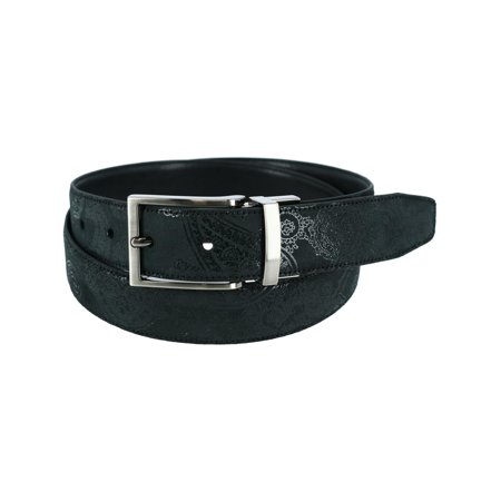 Tallia Paisley Print Reversible Belt (Men's)
