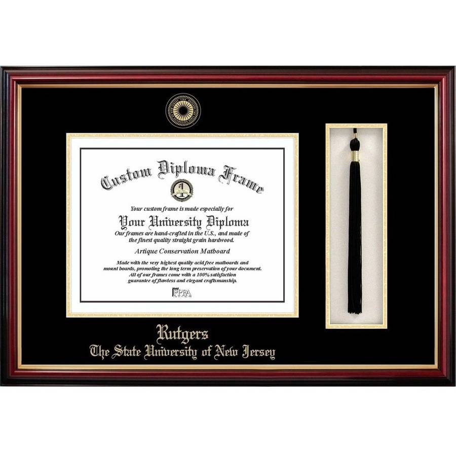 "Rutgers University, The State University of New Jersey, 8.5"" x 11"" Tassel Box and Diploma Frame"