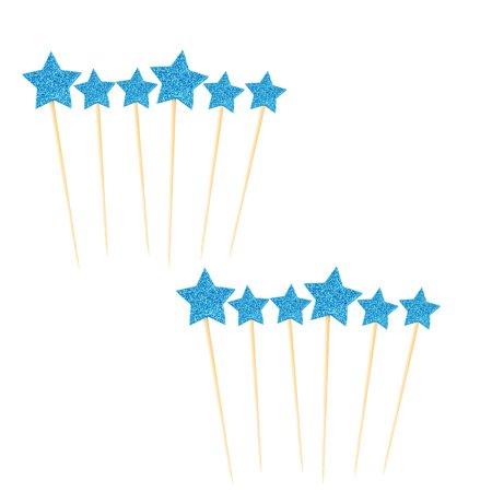 Partie ménage en forme étoile Cupcake bricolage Dentelle cure dents Picks Topper 12 en 1 - image 3 de 3