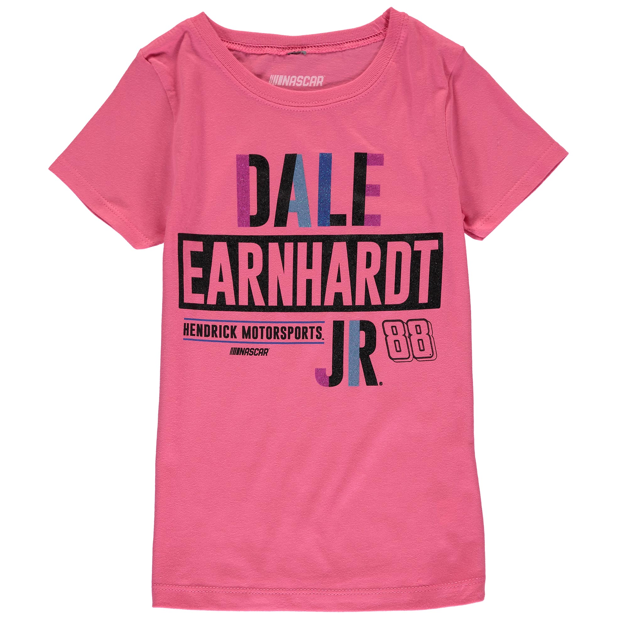 Dale Earnhardt Jr. Fanatics Branded Girls Youth Driver T-Shirt - Pink