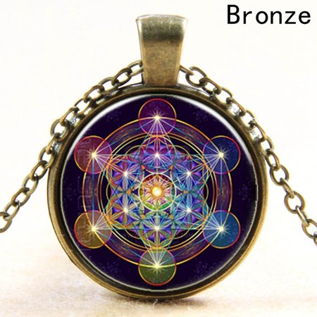 Fancyleo Time Gem Necklaces Vintage Neutral Pendants Long Chain Necklace Creative Design Jewelry Nice Gift (Long Gem Necklace)