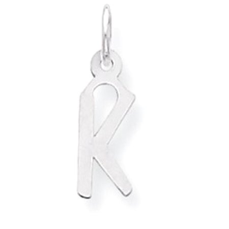 (ICE CARATS 925 Sterling Silver Small Slanted Block Initial Monogram Name Letter K Pendant Charm Necklace Fine Jewelry Ideal Gifts For Women Gift Set From Heart)