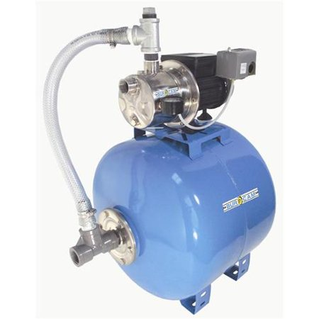 Bur-Cam Pumps 506541SS Stainless Steel Shallow Well Jet Pump 20G Tank