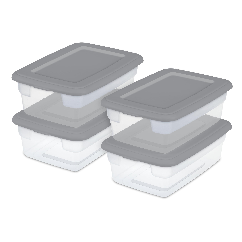 Sterilite Storage Boxes Titanium Set Of 16 Brickseek