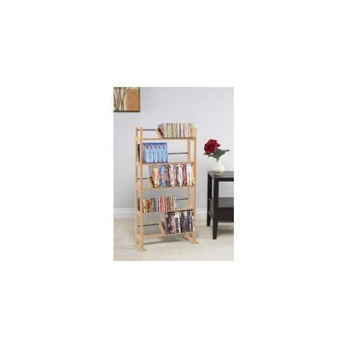 "Atlantic Element Media Rack 40.5"" x 10.0"" Pocket(s)230 x CD, 150 x DVD, 185 x Blu-ray 5 Compartment Wood,... by Atlantic"