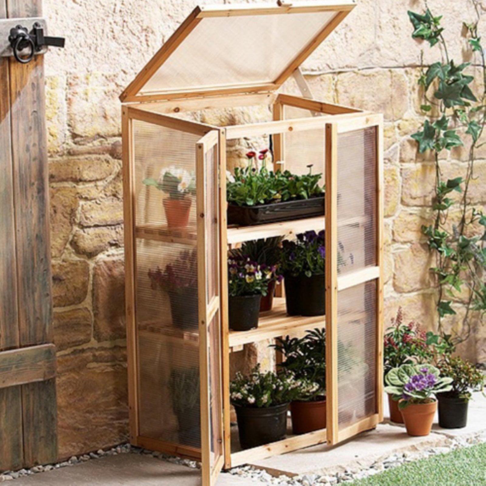 Leisure Season Mini Greenhouse, Medium Brown