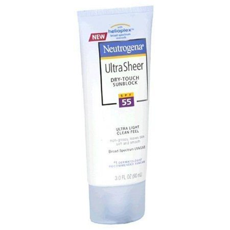 Neutrogena Ultra Sheer Dry-touch Sunblock SPF 55, 3oz Treatment Beauty (Best Sun Creams For Protection)