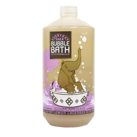 Alaffia Shea Bubble Bath, Calming Lemon-Lavender, 32 Oz - Champagne Bubble Bath