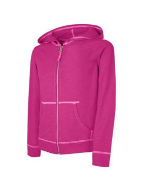 Hanes Girls' Slub Jersey Full-Zip Hoodie(Little Girls & Big Girls)
