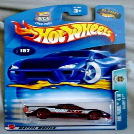 Hot Wheels 2003 Roll Patrol Saleen S7 4/10 #157 BLACK Police 1:64