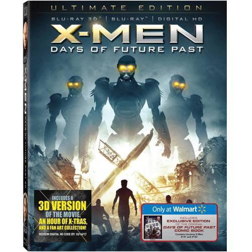 X-Men: Days Of Future Past (3D Blu-ray + Blu-ray + Digital HD) (Walmart Exclusive) (With INSTAWATCH) (Widescreen)
