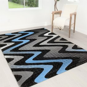 Handcraft Rugs Electric Orange Grey Silver Black Abstract Area Rug Modern Contemporary Circles And Wave Design Pattern Walmart Com Walmart Com