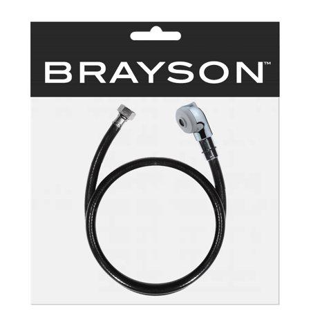 Chrome Ribbon Hose (Salon Chrome Shampoo Sprayer Head w/ Rubber Hose SA-31D)