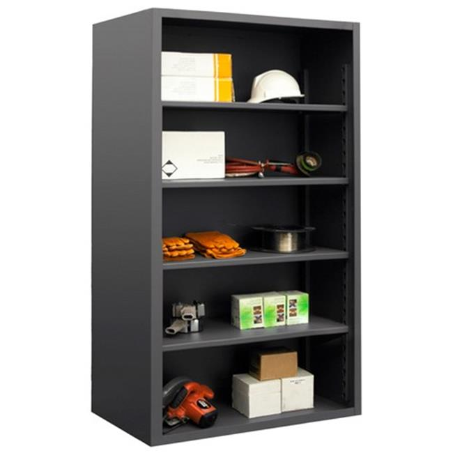 Durham 5007-4S-95 12 Gauge Enclosed Shelving Racks with 4 Shelves, Gray - 48 x 18 x 72 in.