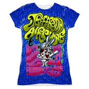 Jefferson Airplane  White Rabbit Girls Jr Sublimation White