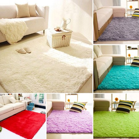 Girl12Queen Home Living Room Bedroom Floor Carpet Mat Soft Anti-Skid Rectangle Area Rug (Pink Carpet Runner)