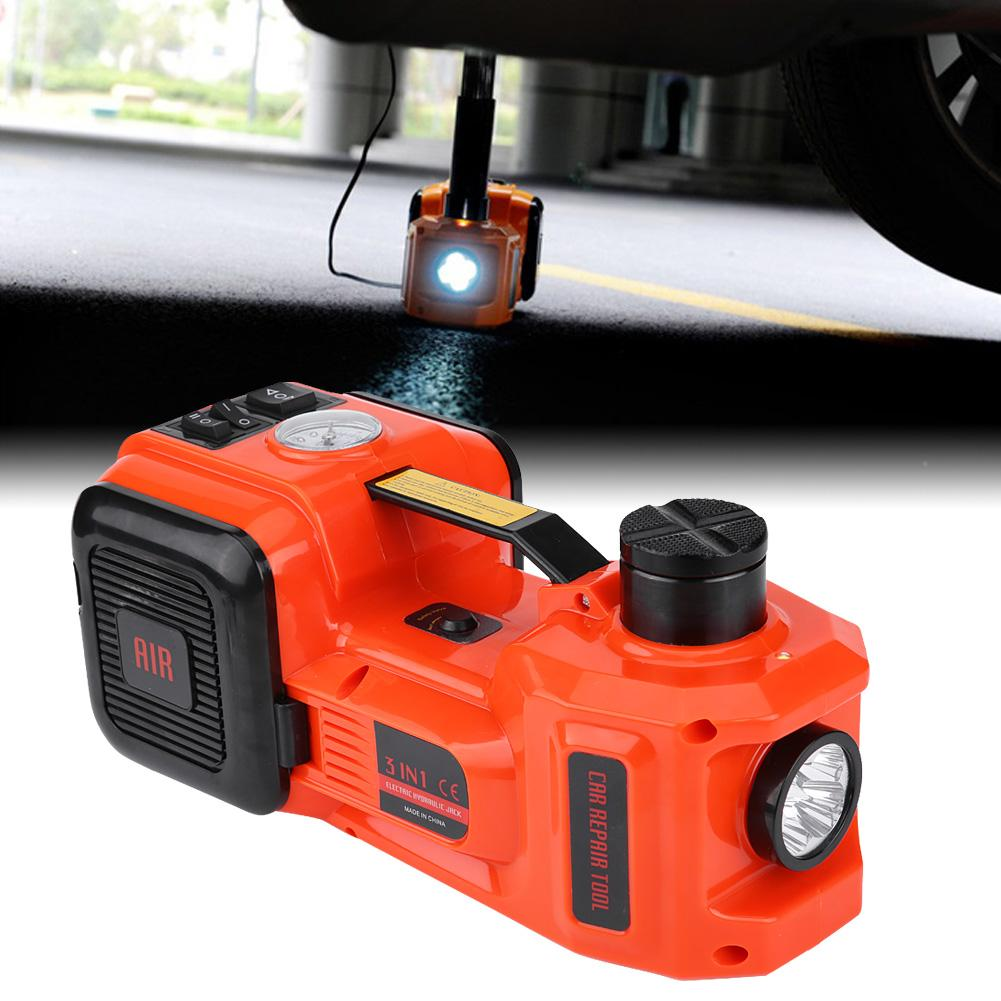 Electric Hydraulic Floor Jack Car Jack Lift 5 Ton 12V DC Tire Inflator Pump