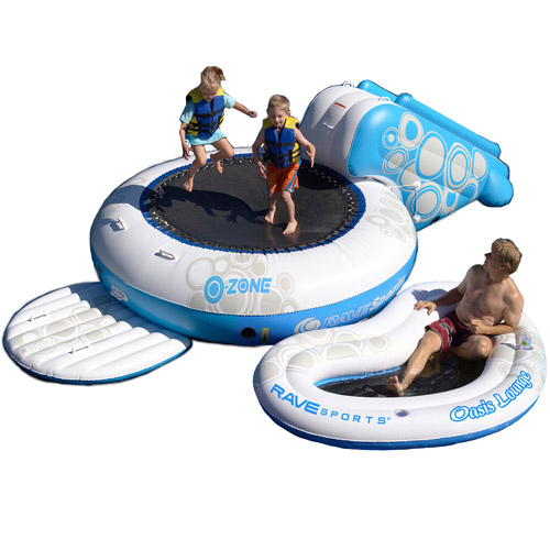 Rave Sport O-Zone XL Plus Water Bouncer, Blue