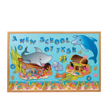 Fun Express - Bulletin Board Set - Under The Sea! - Educational - Classroom Decorations - Bulletin Board Decor - 133 Pieces](Under The Sea Bulletin Board)
