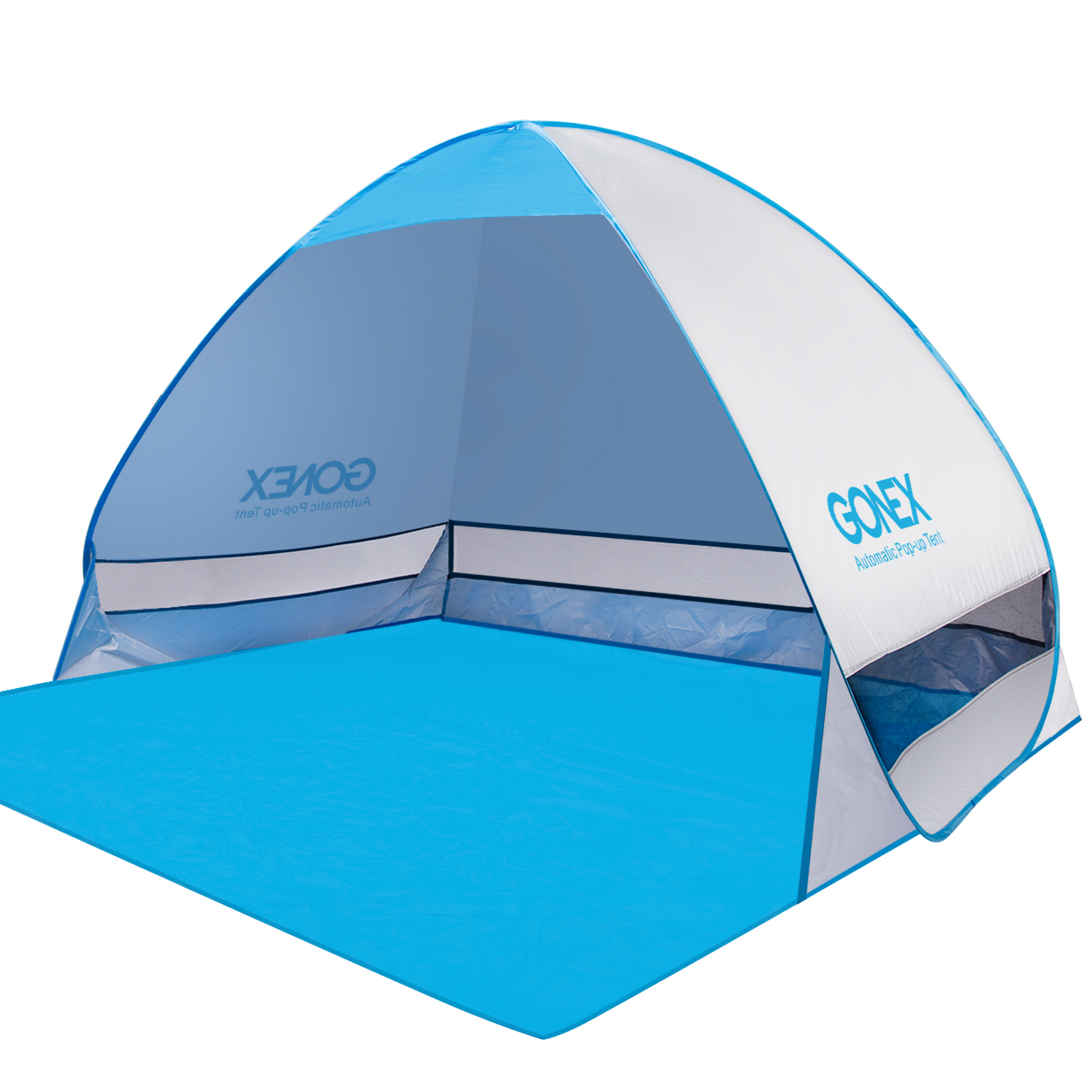Gonex Lightweight Beach Shade Tent Sun Shelter, Automatic Pop up Instant Portable Family Anti UV Cabana by Gonex
