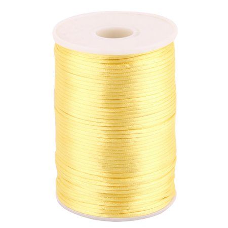 Nylon Soft Handicraft Chinese Knot Knit String Gold Tone 2.5mm Dia 109 Yards - Gold String