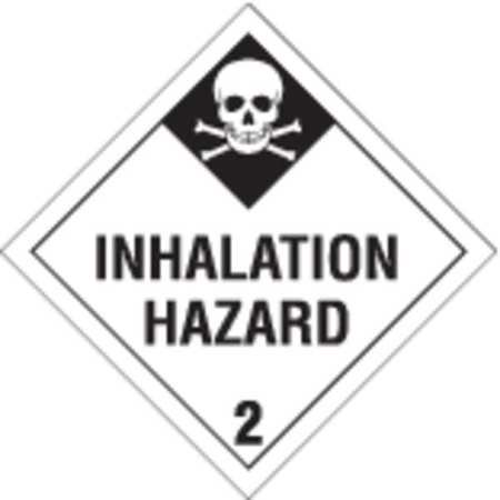 Vehicle Placard,Inhalation Hazard BRADY 63439