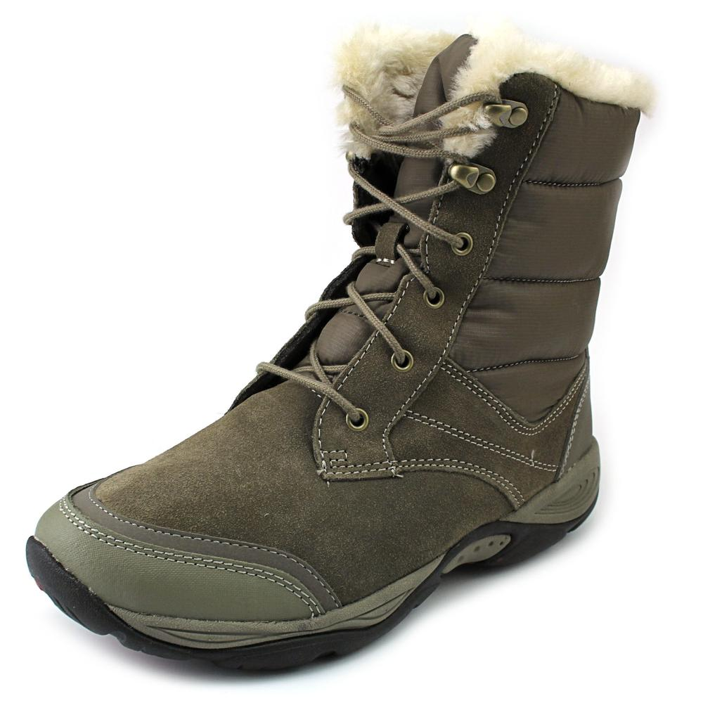 Easy Spirit Erle Women  Round Toe Suede Gray Snow Boot