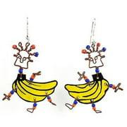 Creative Alternatives Dancing Girl Go Bananas Earrings