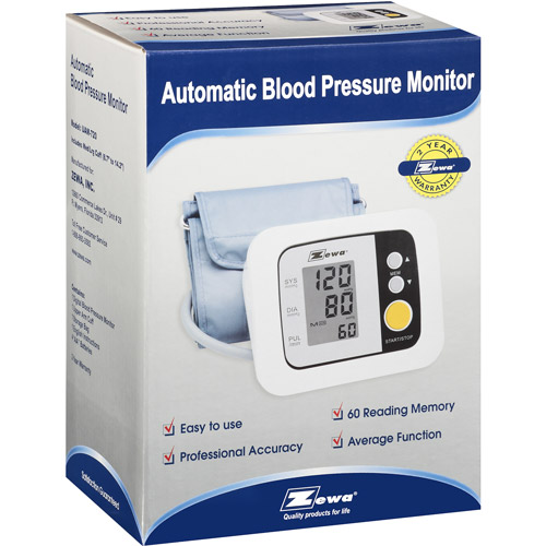 Zewa Automatic Model 8 Piece Blood Pressure Monitor, 1ct