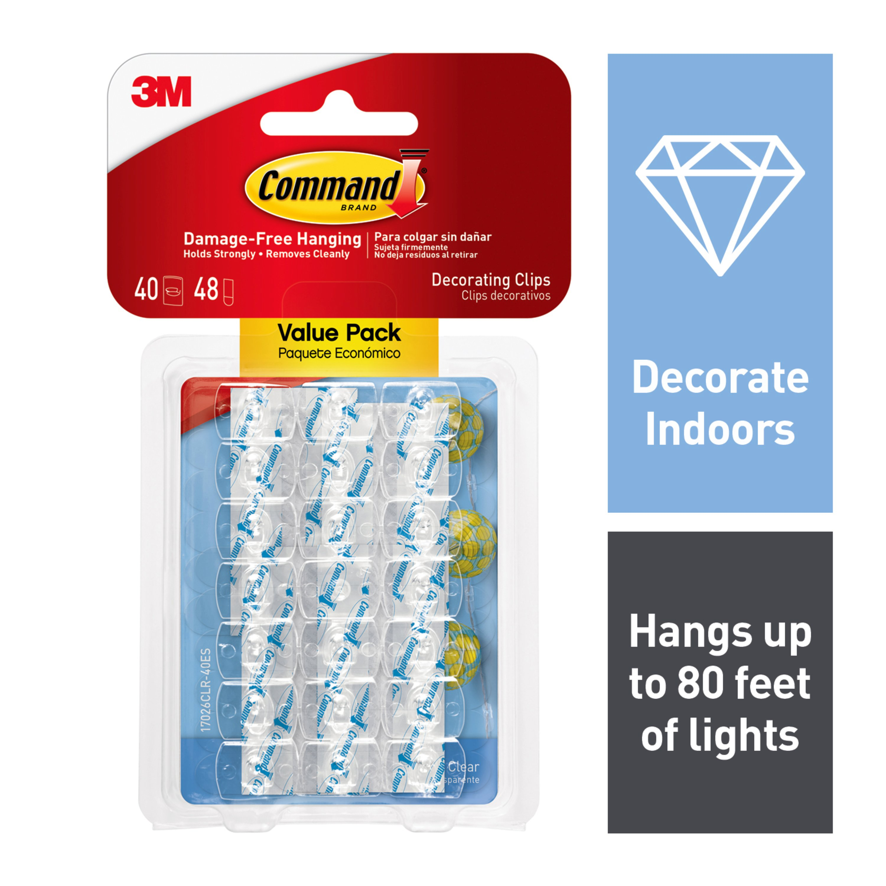 360cfb2922f Command Clear Decorating Clips Value Pack