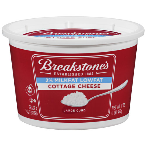 Exceptional Breakstoneu0027s 2% Milkfat Large Curd Lowfat Cottage Cheese, ...