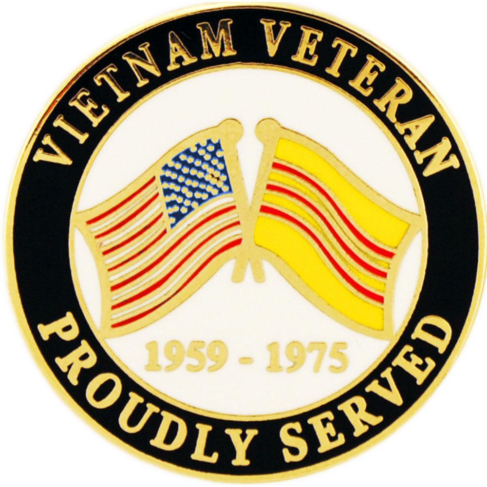 Proudly Served Vietnam Pin 1