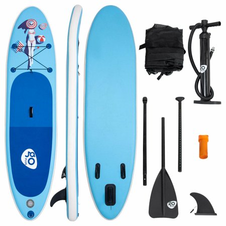 Goplus 10' Inflatable Stand Up Paddle Board SUP W/ Fin Adjustable Paddle Backpack Sport (Up Sports)