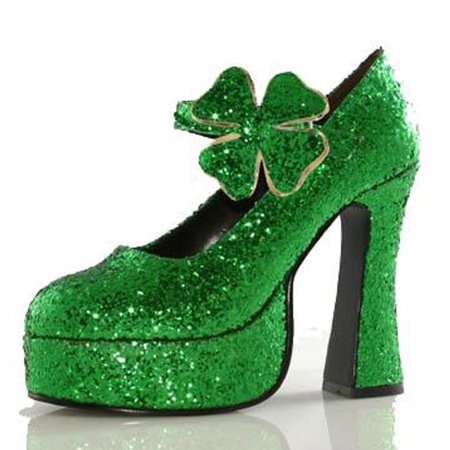 Shamrock Green Shoes Women's Adult Halloween Accessory for $<!---->