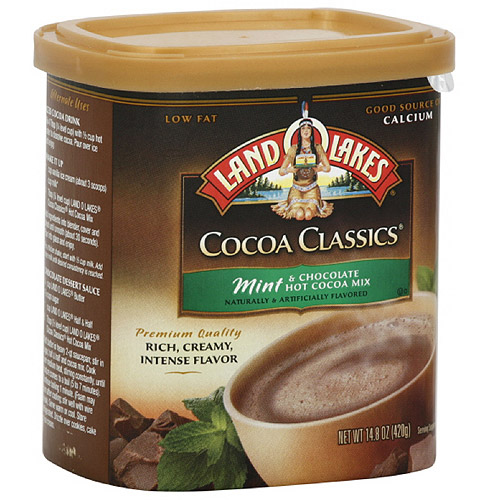 Land O Lakes Mint & Chocolate Cocoa Mix, 14.8 oz, 10ct (Pack of 6)