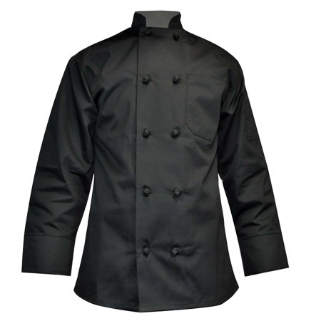 Long Sleeve Chef Coat Knot Button Chef Coat-Easy-Care Twill
