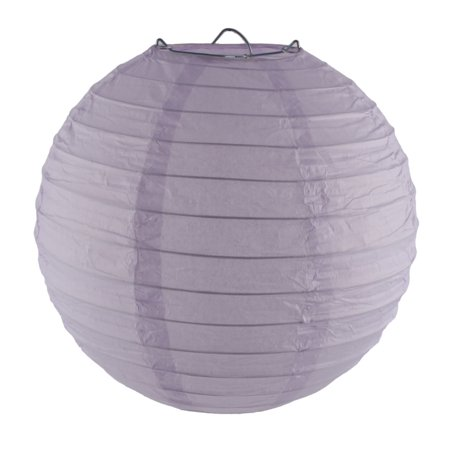 Unique Bargains Christmas Paper Handmade Lantern String Decoration Light Purple 8 Inches