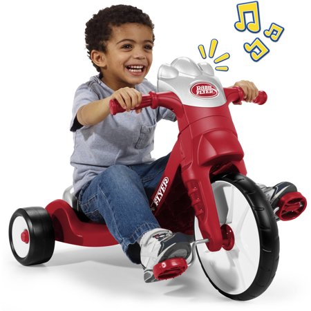 Radio Flyer, My First Big Flyer with Lights & Sounds, Chopper Tricycle, Red