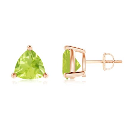 141ca0b46 Angara - Mother's Day Jewelry Sale - Basket-Set Trillion Peridot Stud  Earrings in 14K Rose Gold (8mm Peridot) - SE0142P-RG-A-8 - Walmart.com