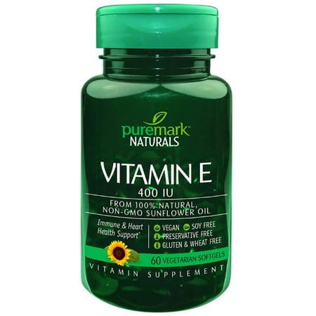 Puremark Vitamin E 400 Iu Vegetarian Softgels, 60 ea