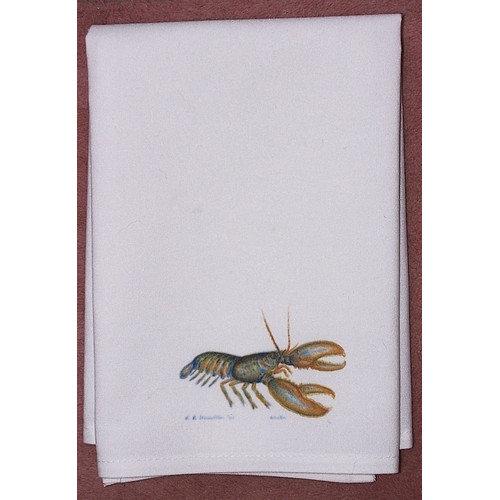 Betsy Drake Interiors Coastal Lobster Hand Towel (Set of 2)