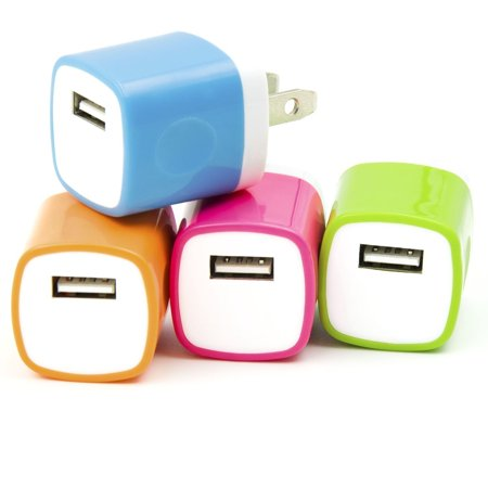 4PCS LOT 2 Two-Tone USB AC Universal Power Home Wall Travel Charger Adapter for iPhone 6 6 PLUS / 5 5S 5C /4 4S Samsung HTC w/ Easy Edge Grip