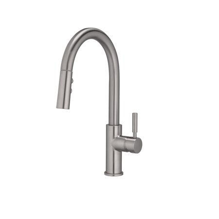 OakBrook 97553-0604 Vela 1 Handle Pulldown Kitchen Faucet, Brushed Nickel