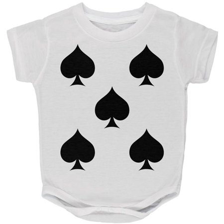 Halloween Five of Spades Card Soldier Costume All Over Baby One Piece - 5 Floors Halloween