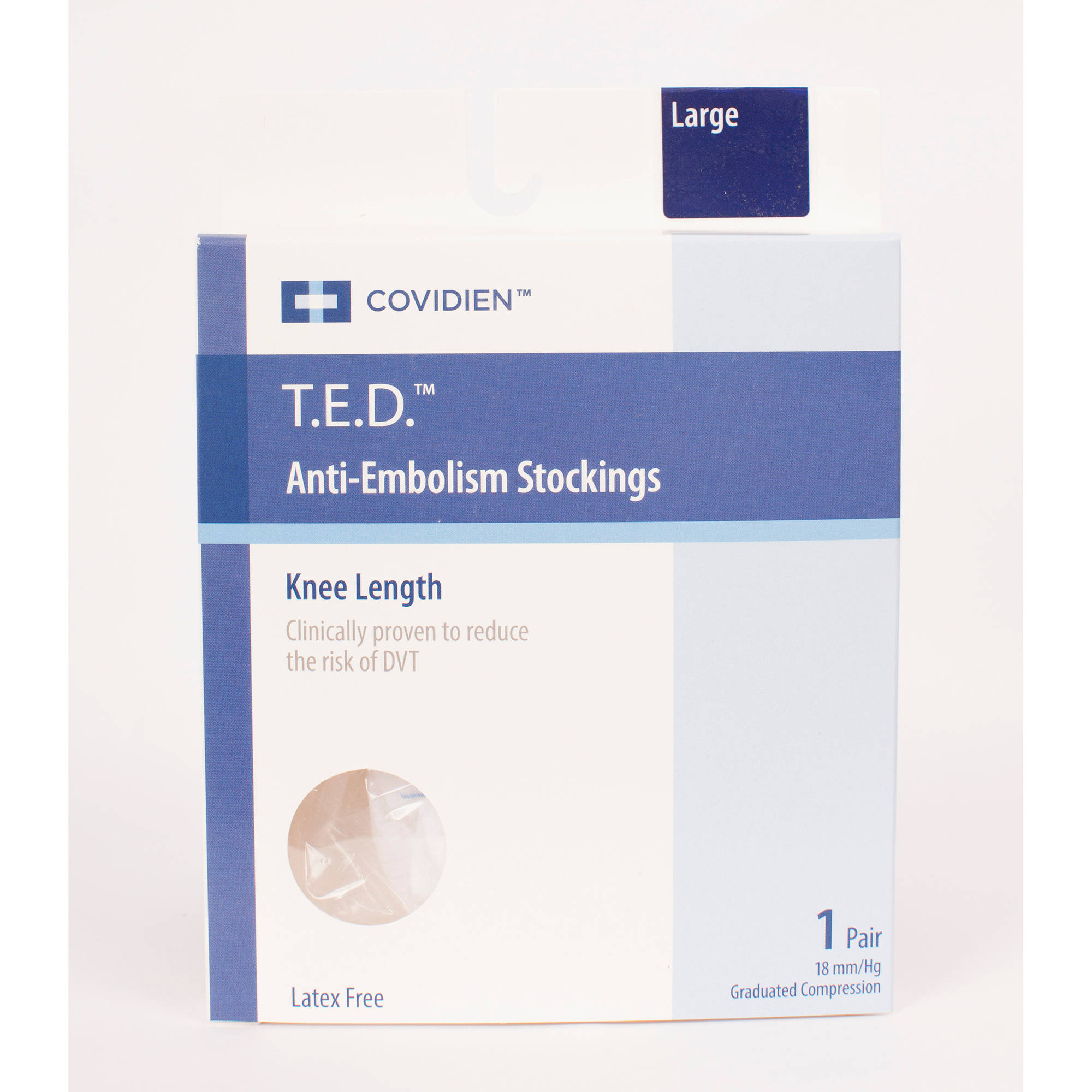 T.E.D. Anti-Embolisim Stocking Knee high Large/Regular White