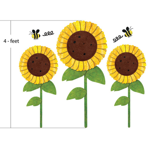My Wonderful Walls Sunflowers and Bees Wall Stickers
